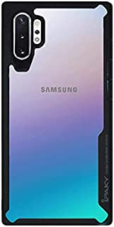 IPAKY Cover case for Samsung note 10 plus with a clear back and a Black frame