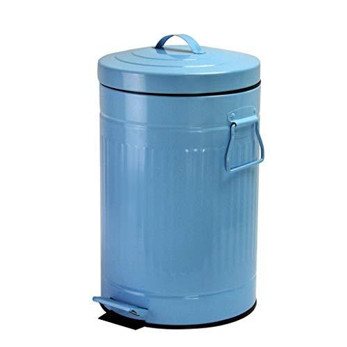 Tangrong Pedaal prullenbak, Portable Gescheiden afval bak met plastic Inner Emmer, waterdicht roestvrij staal vuilnisbak met deksel Keuken Badkamer, blauw, groen, 5L