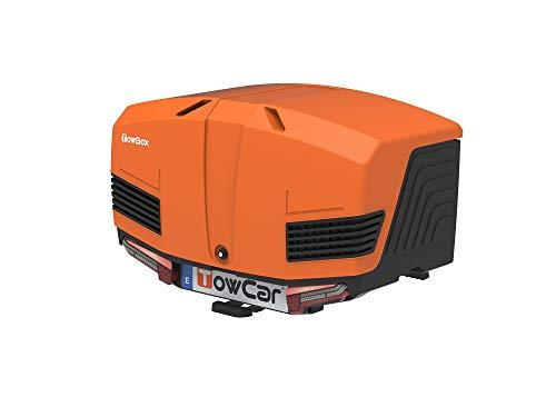 Towbox V3 Gepäckbox für Anhängerkupplung | Sport Orange | Transportbox | Gepäckträger