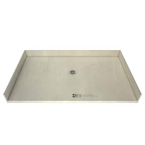Tile Redi 4266CBF-PVC Barrier Free Shower Pan w/ Integrated Center PVC Drain, 42″x66″