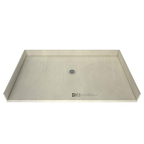 Tile Redi 4266CBF-PVC Barrier Free Shower Pan w/ Integrated Center PVC Drain, 42″x66″