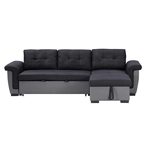 RJMOLU Cama DE Sofa Sofa Sofa CONVERTISIBLE - Moderno sofá en Forma de l de Lino para pequeño Espacio - Doble Seater Sofá Sofá Sofá para Cuarto De Dormitorio del Dormitorio Adulto