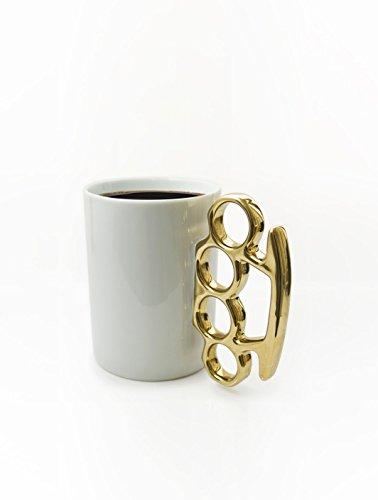 Thabto Schlagring Kaffeebecher, Weiß/Gold
