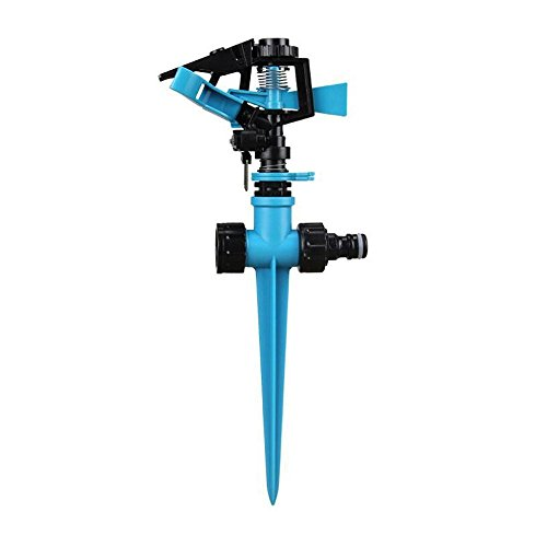 Marctrip Automatic Lawn Sprinkler 360 Degree Spike Hose Water Impulse...