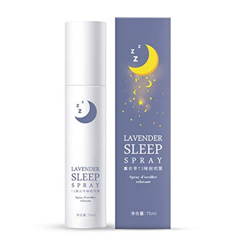 Lavendel Aromatisches Spray 75ml, Lavendel Kissenspray ideal für Yoga - Lavendelkissen Spray für guten Schlaf - Entspannung - Beruhigung - Raum-Spray mit 100% Reinem Lavendelöl