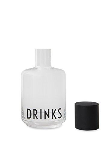 Design Letters - Karaffe - Glas - Drinks - mit der Typografie von Arne Jacobsen