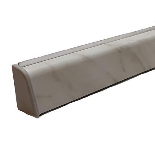 Alzatina per piani da cucina, spalletta per top, alzatina, finale per top con la seguente misura= 2 metri lineari compresa di finali, alzatina in colore bianco carrara