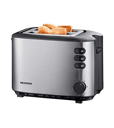 Severin Autmatic Toaster mit 850 W Leistung at 2514, Edelstahl gebürstet schwarz