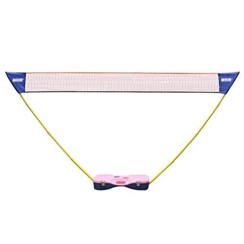 YXZQ Badminton-Netz, tragbares Standard-Tennis-Volleyball-Netz Einfache Einrichtung Sportnetz Mobiles Netz-Rack-Training Standard-Badminton-Falten, für Innen- oder Außenplätze am Strand Beach Dri