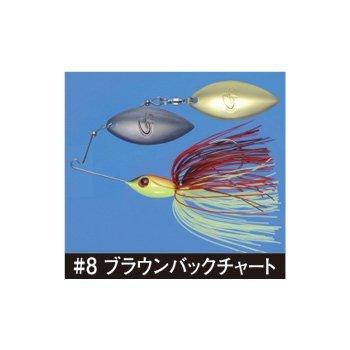 がまかつ(Gamakatsu) スピナーベイト マイクロスピン ダブルウィロー 1/4oz 7g ブラウンバックチャート #8 ...