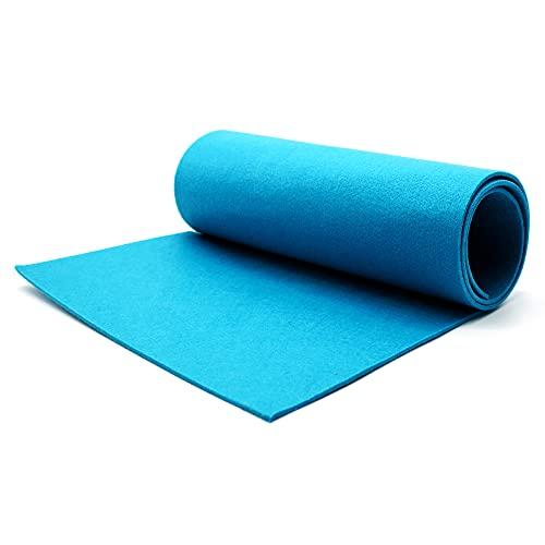 Casoro Camino de mesa de fieltro 40 x 150 cm en azul petróleo, lavable, moderno mantel para cualquier ocasión, protección para cualquier superficie de mesa