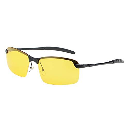LoveLeiter Fahrer der eine spezielle HD Nachtsichtbrille mit Blendschutz einsetzt HD Nachtsichtbrille Autofahren für Brillenträger Damen Herren Erwachsene Sonnenbrille