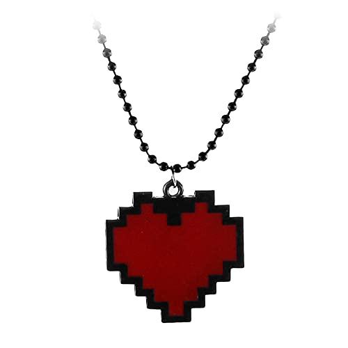 Collar De Moda Collar EnForma De Corazón Collar De Cadena Colgante Accesorios De Joyería Para Mujer Accesorios DeJuegoRegalos Para Fanáticos