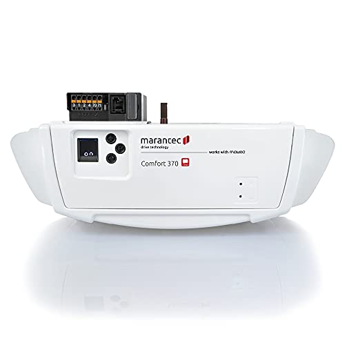 Marantec Comfort 370 Garagentorantrieb, Set inkl. 2 Handsender, elektrischer Torantrieb für Garagentore, Sektionaltore und Schwingtore, Weiß