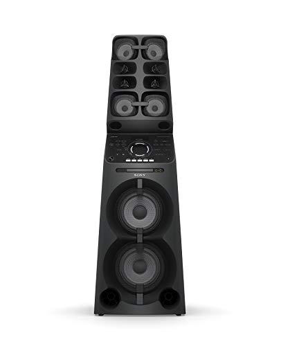 Sony MHC-V90DW High Power Party Lautsprecher (10 Lautsprecher, Bluetooth, 360 Grad Sound, Beleuchtung, DVD, CD) schwarz