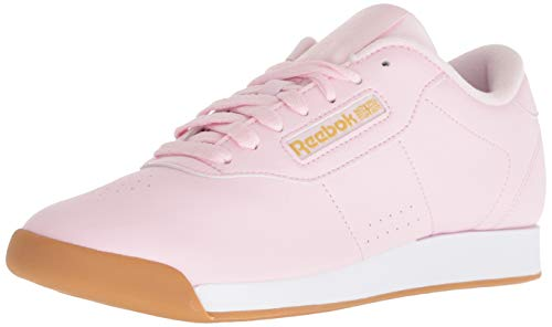Reebok Women's Princess Sneaker, pink/white/gold metallic, 6 M US