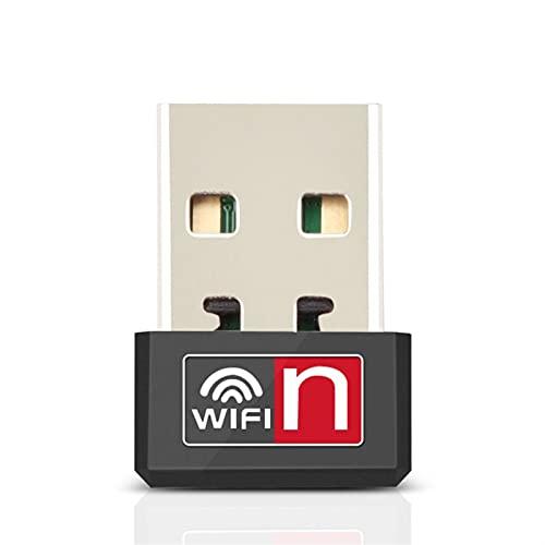 MCYAW Remoto Mini USB Adaptador WiFi Adaptador de Wi-Fi 150Mbps para PC USB Ethernet WiFi Dongle 2.4g Tarjeta de Red Antena Wi Fi Receptor Receptor (Color : Need CD Driver)