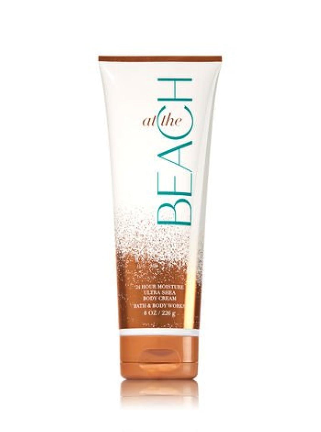 シマウマ演じる冒険家【Bath&Body Works/バス&ボディワークス】 ボディクリーム アットザビーチ Body Cream At The Beach 8 oz / 226 g [並行輸入品]