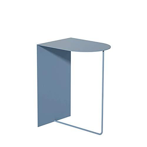 Mesa Auxiliar Mesita de Café Tabla Final Lado de rectángulo Table de café Mesa de Metal Mesa Auxiliar Pequeño Sofá Mesa Mesa de Mesa de Noche, 30 cm * 40 cm * 50cm (Color : Smoke Blue)