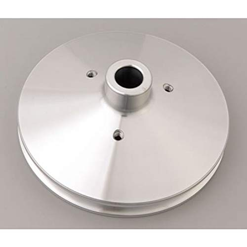March Performance 515 Clear Powdercoat Aluminum 1-Groove Press Fit Power Steering Pulley