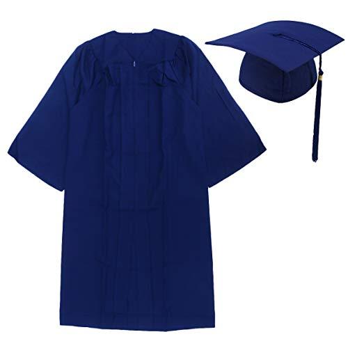 Amosfun Disfraz de graduación y gorra de graduación universitaria con sombrero de licenciatura, vestido de graduado, para adultos, estudiantes, regalo de graduación - Talla 57