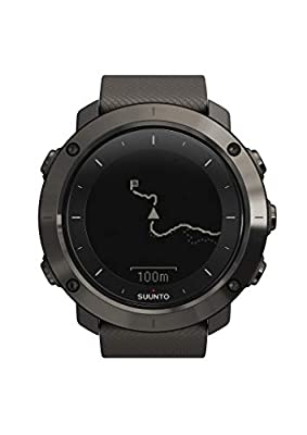 Suunto, GPS Outdoor Watch for Hiking and Trekking, Battery Lasts Up To 100 Hours, Water Resistant, TRAVERSE Graphite, Graphite, SS022226000