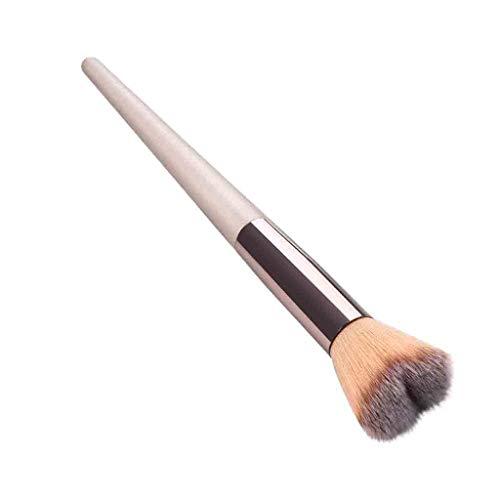 Posional Pinceau Maquillage Cosmétique Professionnel, Lot de 1PCS Fondation Cosmetic Soyeux et Denses Pinceaux Maquillage Yeux pour Fond de Teint, Blush, Correcteurs Les Yeux