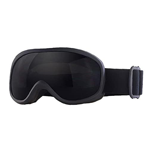 Capa Jorzer Doble Lente Gris Invierno Gafas De Esquí Anti-vaho Gafas De Snowboard Gafas De Protección Uv Contra La Niebla Nieve Gafas Hombres Mujeres Negro Gafas De Esquí