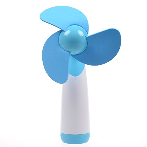 LingsFire® Handheld Mini Fan Super Mute AA Battery Operated Cooling Fan Electric Personal Fans for Home and Travel (Blue), [Importado de UK]