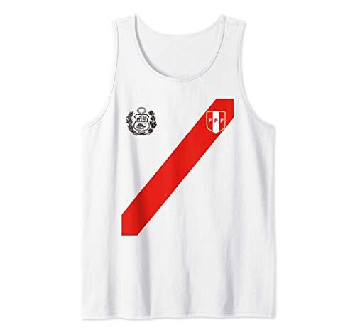 Fútbol Soccer Logo Perú Polo Peruano Escudo Franja Roja Camiseta sin Mangas