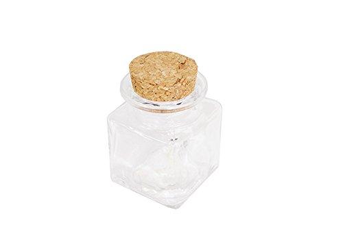 barattolino szklana pokrywka korkowa cm 4,2 x 6