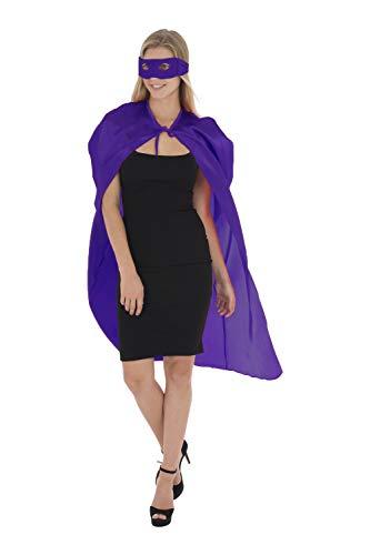 Zacs Alter Ego fantazyjna sukienka super bohater peleryna i maska zestaw unisex kostium peleryna