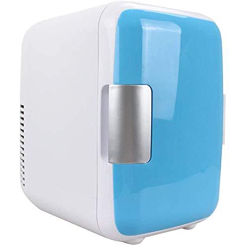 LSHOME Mini Refrigerador de 4L Refrigerador Eléctrico Refrigerador Portátil para Maquillaje de Vehículos hasta 6 Latas Adecuado para la Reunión de Campamento de Fiesta,Azul