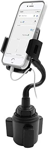 Macally Car Cup Holder Phone Mount Adjustable 5 Gooseneck with Cable Hanger for Phones 2 3 74 product image