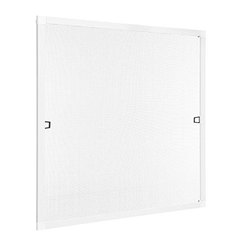 Ventanara Insektenschutz Fliegengitter Fenster Spannrahmen Weiß RAL 9016 130 x 150 cm