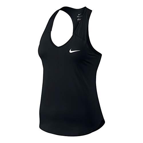 Nike Pure Tank-Canotta da donna, Nero / Bianco (BLACK/WHITE), S