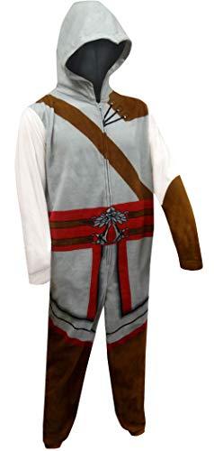 Underboss Men's Assasin's Creed One Piece Union Suit Pajama (Medium) Gray