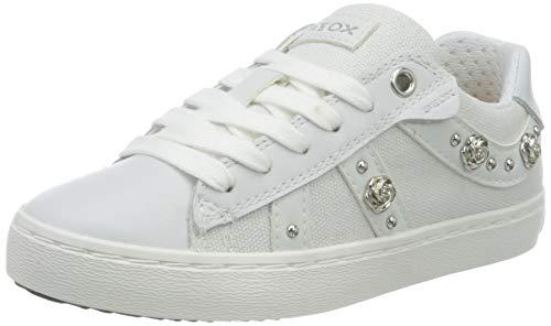 Geox J Kilwi Girl A, Zapatillas Niñas, Blanco (White C1000), 30 EU