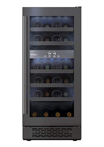 avanti wine fridges Avallon AWC151DBLSS 15 Inch Wide 23 Bottle Capacity Free Standing Wine Cooler with LED Lighting and Double Pane Glass