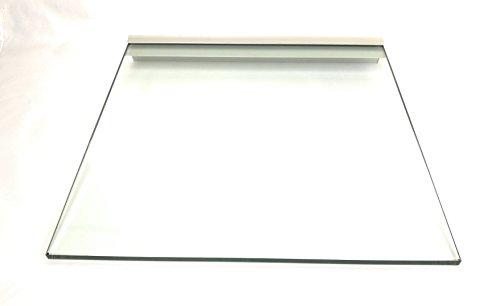 Regale4You Glasregal: 40x40 cm KlarGlas 10 mm mit Profil LINO10 komplett mit Befestigung / 3...