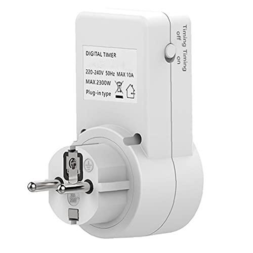 Totalizador de enchufe del temporizador toma de enchufe de temporizador eléctrico 24 horas / 7 días Semana semanal Interruptor de luz programable para el hogar y en interiores Fácil de trabajar