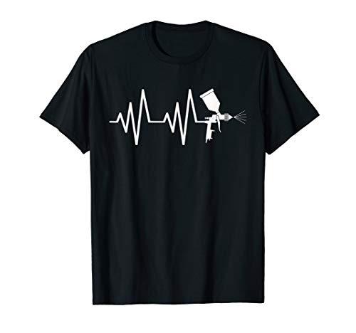 Autolackierer Auto Lackierer Lackierpistole EKG Geschenk T-Shirt