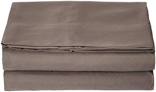 Elegant Comfort Luxury Flat Sheet on Amazon Wrinkle-Free 1500 Thread Count Egyptian Quality 1-Piece Flat Sheet, King Size, Grey