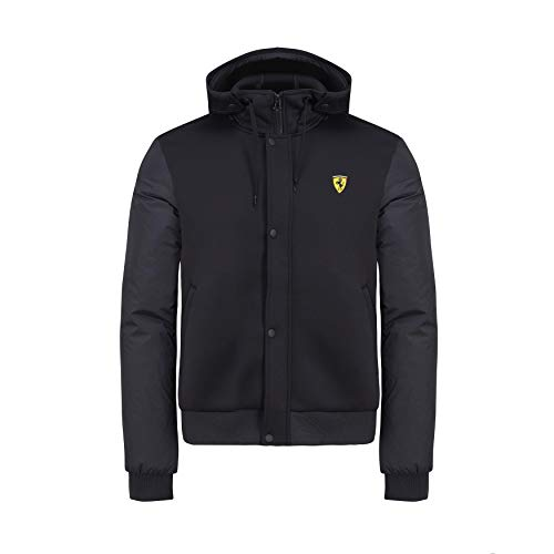 Branded Sports Merchandising B.V. Scuderia Ferrari F1 Men's Hooded Bomber Jacket Black (L)