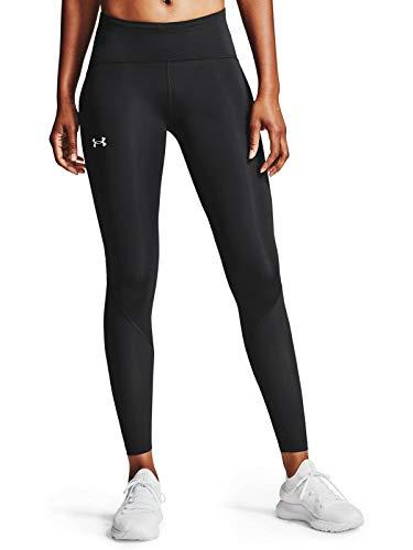 Under Armour Fly Fast 2.0 Tight, hautenge, atmungsaktive Sporthose, leichte und komfortable Damen Sport Leggings Damen, Black / Black / Reflective , XS