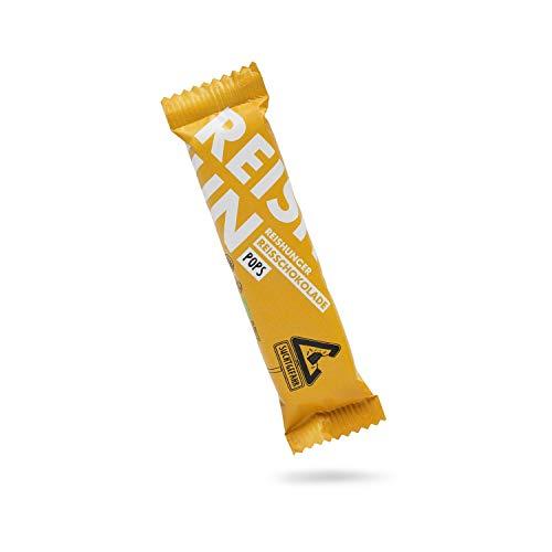 Reishunger BIO Riegel Reisschokolade Pops (36 x 25g) - Vegan & Glutenfrei - Puffreis umhüllt von Zartbitter-Schokolade - Einzeln und in Vorratspacks erhältlich