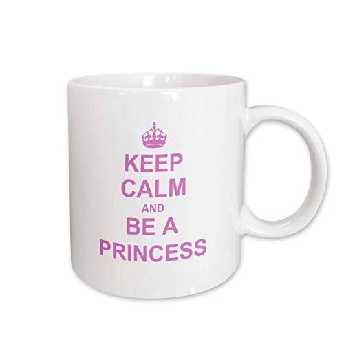 3dRose mug_157756_1 Keep Calm And Be A Princess Becher, keramik, ceramic