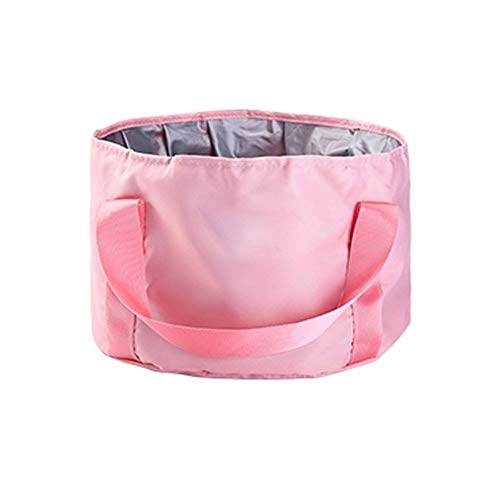 WXX Travel portable collapsible washbasin, bubble foot bag, laundry tub, washbasin, travel foot bucket (Color : Pink)