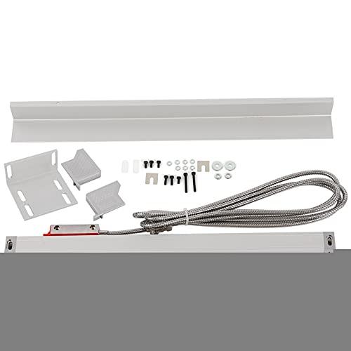 Codificador de escala lineal, 5μm 5VDC Codificador de escala de manguera de metal de acero inoxidable, sensor de regla de rejilla con tira amarilla a prueba de polvo, con cable(1000)