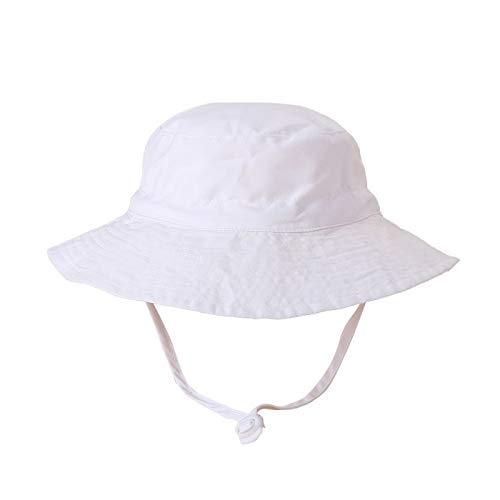 Ghemdilmn Baby Sommer Sonnenhut Unisex Fischerhut Bucket Hat Mädchen und Junge Einfarbige Sonnenhut Adumbral Hut Outdoor Strand Hut (D, M)